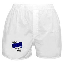 I Wear Blue For My Wife 8 Boxer Shorts