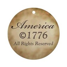 Copyright 1776 Ornament (Round)
