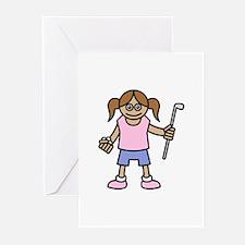 Girl Golfer Greeting Cards (Pk of 10)