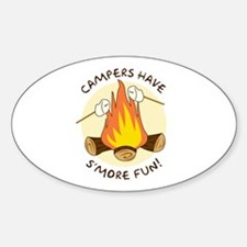 """S'more Fun"" Oval Decal"