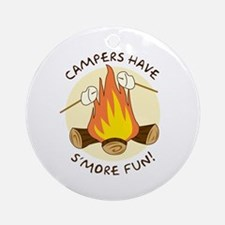 """S'more Fun"" Ornament (Round)"