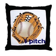 i pitch Throw Pillow