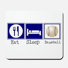 Eat, Sleep, Baseball Mousepad