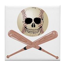 Baseball Skull Tile Coaster