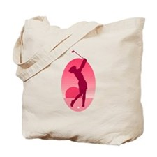 Pink Ladies Golf Logo Tote Bag