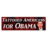 Tattooed Americans for Obama bumper sticker