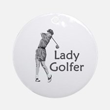 Lady Golfer Ornament (Round)
