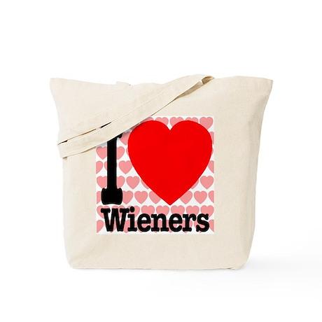 I Love Wieners Tote Bag