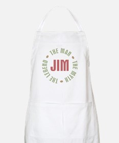 Jim Man Myth Legend BBQ Apron