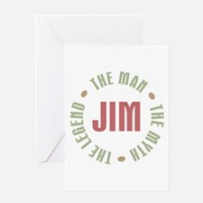 Jim Man Myth Legend Greeting Card