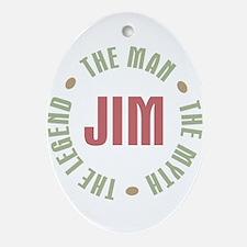 Jim Man Myth Legend Oval Ornament