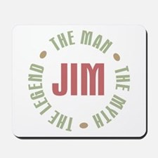 Jim Man Myth Legend Mousepad