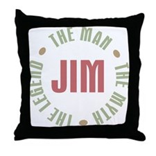 Jim Man Myth Legend Throw Pillow
