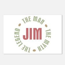 Jim Man Myth Legend Postcards (Package of 8)