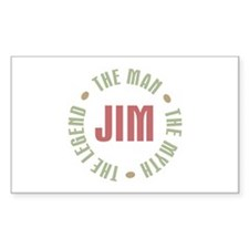 Jim Man Myth Legend Rectangle Decal