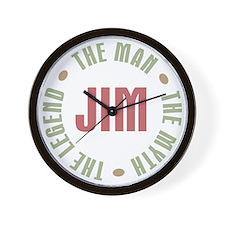 Jim Man Myth Legend Wall Clock