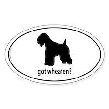 Got Wheaten? Oval Bumper Stickers
