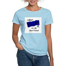 I Wear Blue Best Friend Colon Cancer Shirt T-Shirt