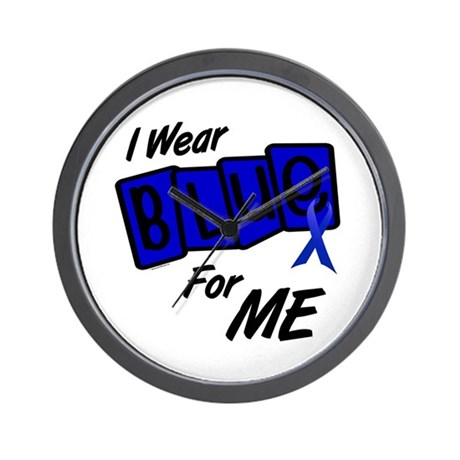 I Wear Blue For ME 8 Wall Clock