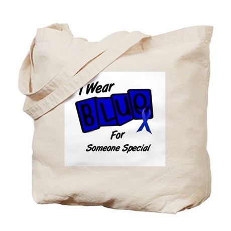 I Wear Blue For Someone Special 8 Tote Bag