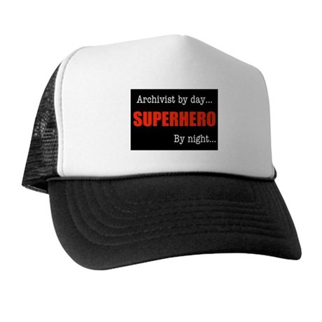 Superhero Archivist Trucker Hat