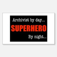 Superhero Archivist Rectangle Decal