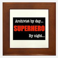 Superhero Archivist Framed Tile