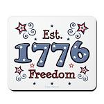 1776 Freedom Americana Mousepad