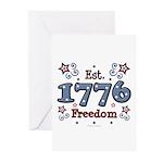 1776 Freedom Americana Greeting Cards (Pk of 10)