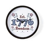 1776 Freedom Americana Wall Clock