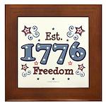 1776 Freedom Americana Framed Tile