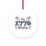 1776 Freedom Americana Ornament (Round)