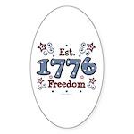 1776 Freedom Americana Oval Sticker (50 pk)