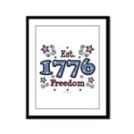 1776 Freedom Americana Framed Panel Print