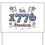 1776 Freedom Americana Yard Sign