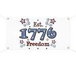 1776 Freedom Americana Banner