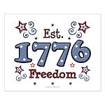 1776 Freedom Americana Small Poster