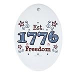 1776 Freedom Americana Oval Ornament
