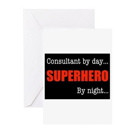 Superhero Consultant Greeting Cards (Pk of 10)