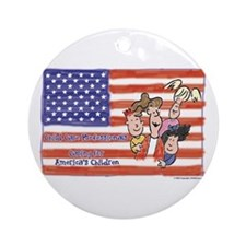 American Heroes Child Care Ornament (Round)