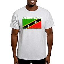 St Kitts & Nevis Ash Grey T-Shirt