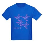 Violet Baby Sea Turtles Kids Dark T-Shirt