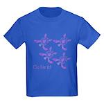 Violet Baby Sea Turtles Kids Dark T-Shirt
