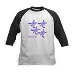 Violet Baby Sea Turtles Kids Baseball Jersey