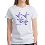 Violet Baby Sea Turtles Women's T-Shirt