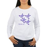 Violet Baby Sea Turtles Women's Long Sleeve T-Shir
