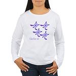 Violet Baby Sea Turtles Women's Long Sleeve T-Shir