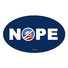 Nope 2 Anti-Obama Oval Sticker (10 pk)