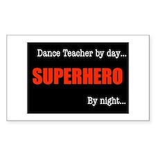 Superhero Dance Teacher Rectangle Decal