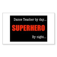 Superhero Drama Teacher Rectangle Decal